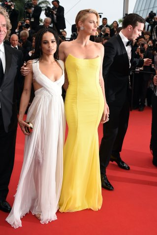 Charlize Theron and Zoe Kravitz At Cannes