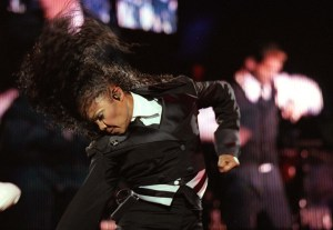 Janet Jackson performing an open air concert at Er