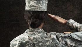 Female African American Soldier Series: Saluting