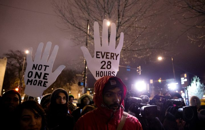 Protestors Rally Against Police Violence In Chicago
