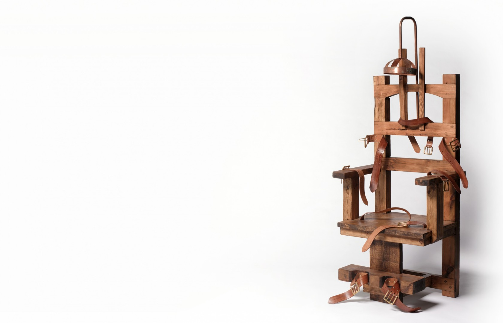 Electric chair with copy space