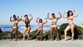 Black women in bikinis