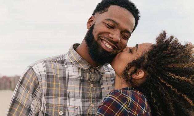 Cute Couple Kissing