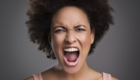 African Woman Shouting