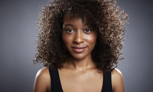 Studio portrait of beautiful young woman