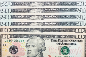 One hundred dollars in US currency