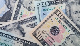 Crisp, new, colorful American currency