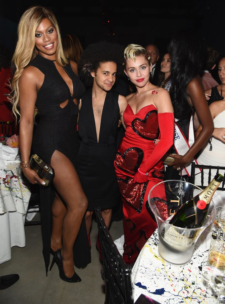 Laverne Cox, Tyler Ford & Miley Cyrus