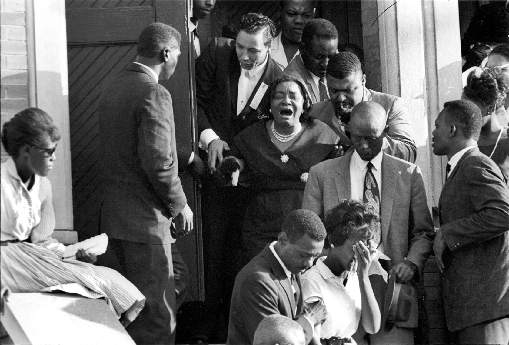 Woman Crys At 16Th St Church Bombing Funeral