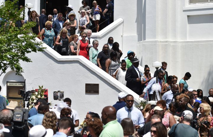 Guests Pour Out Of The Church