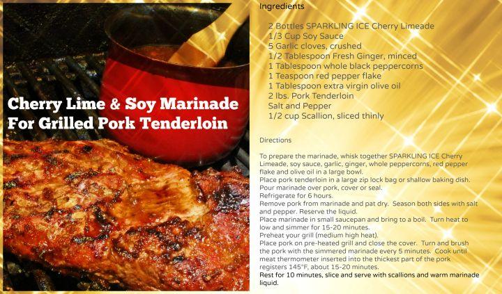 Cherry Lime & Soy Marinade For Pork Tenderloin