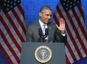 President Obama Waves