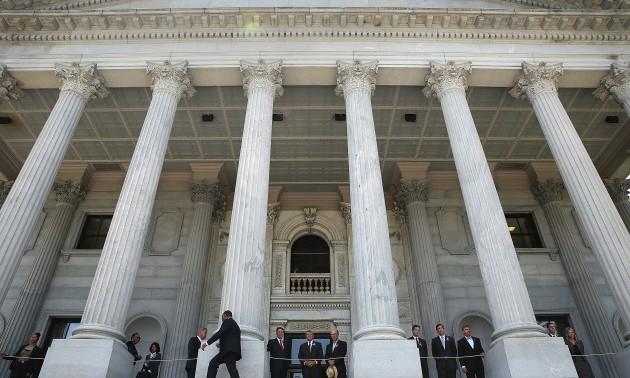 Charleston Church Shooting Victim Sen. Pinckney Lies In Repose At South Carolina Capitol
