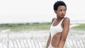 Black Woman in Swimsuit