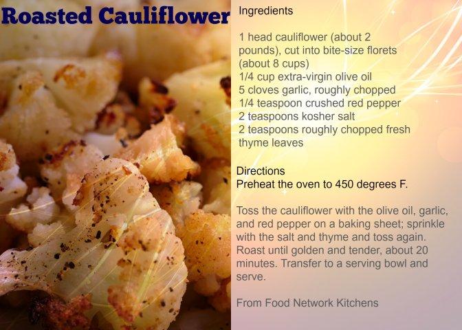 Roast cauliflower