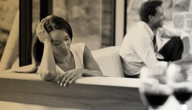 Black Woman Preoccupied In Relationship