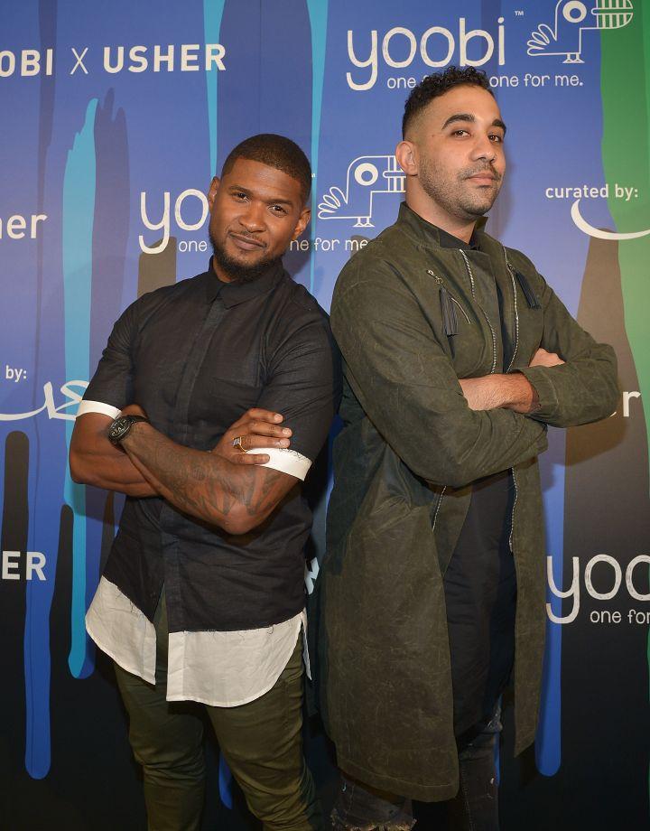 Usher Strikes A Pose At The Yoobi X Usher VIP Launch Event