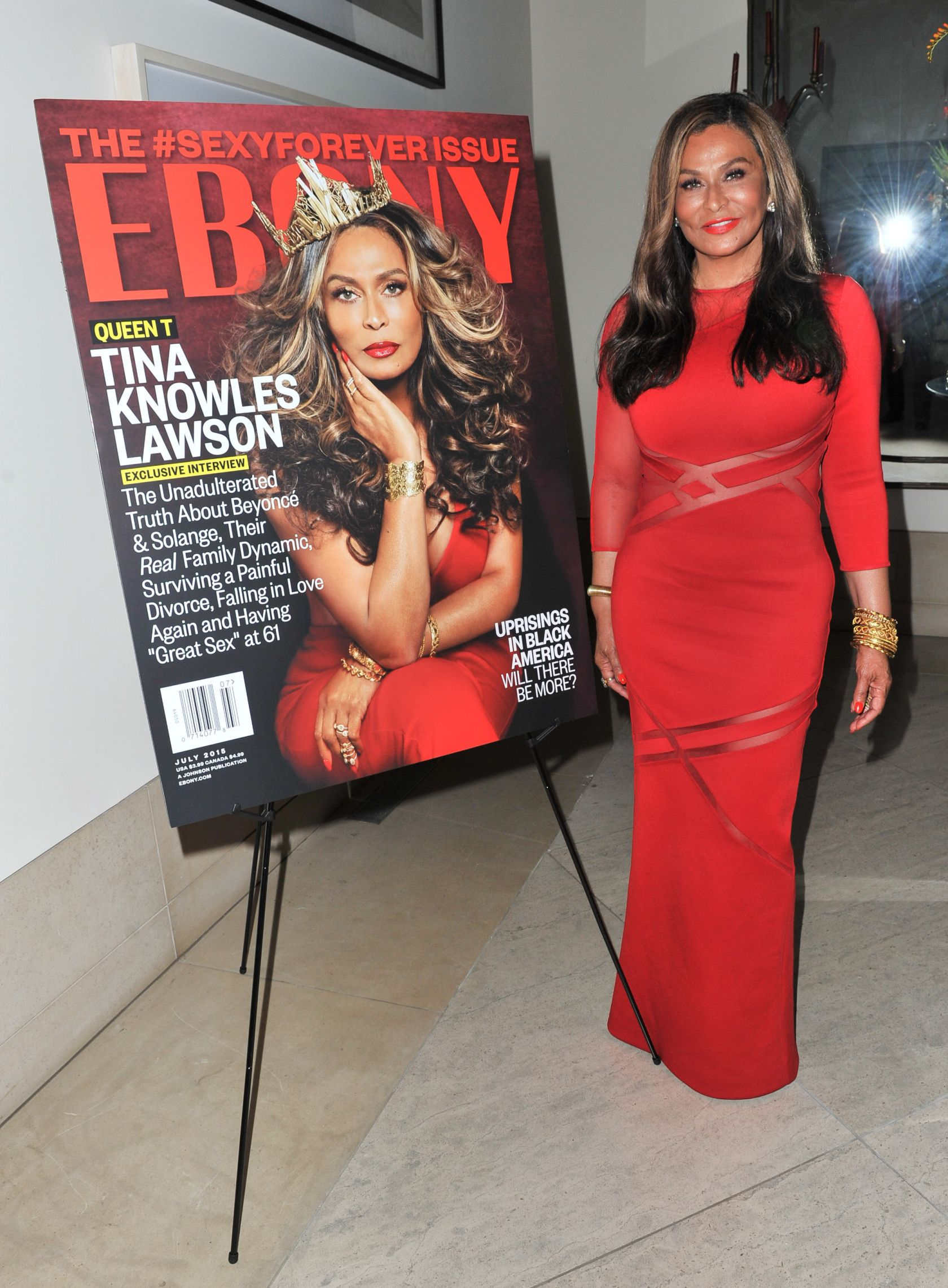 Ebony Hosts Champagne Toast In Honor Of July Cover Star Tina Knowles Lawson