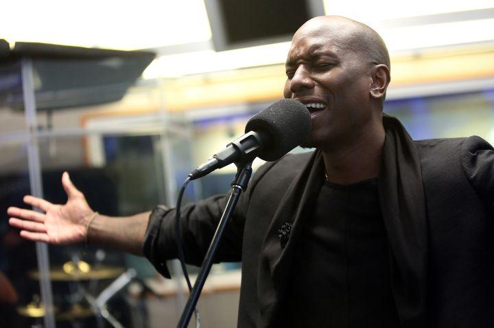 Tyrese Performed At SiriusXM Studios