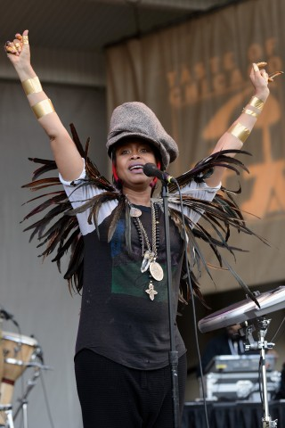 Erykah Badu Performs In Chicago, Illinois