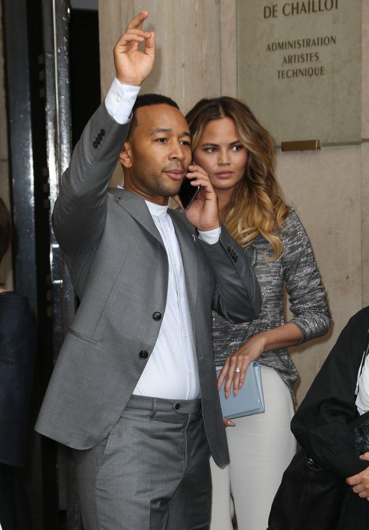 John Legend & Chrissy Teigen Hail A Cab (We Think)