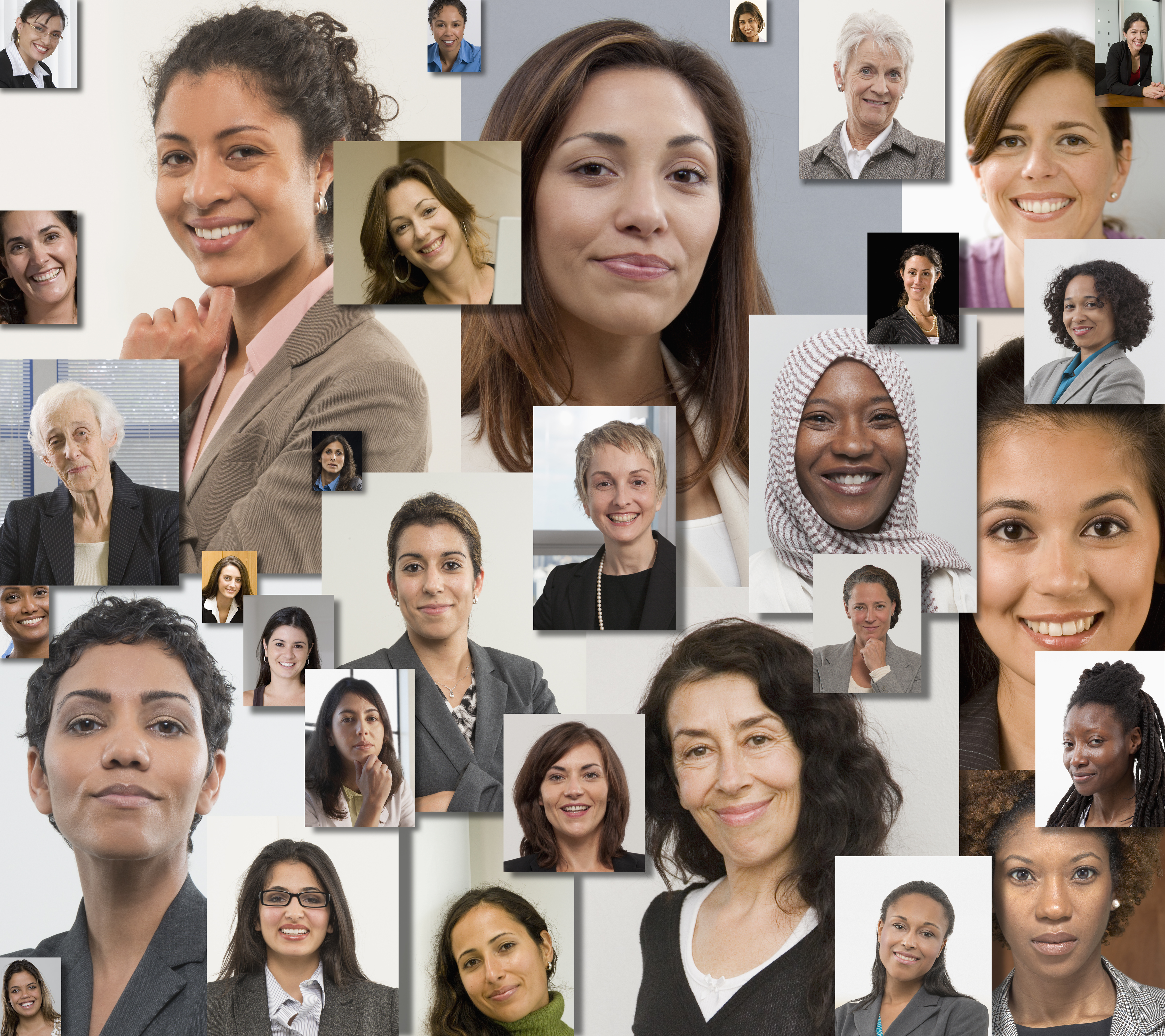 Collage of professional women