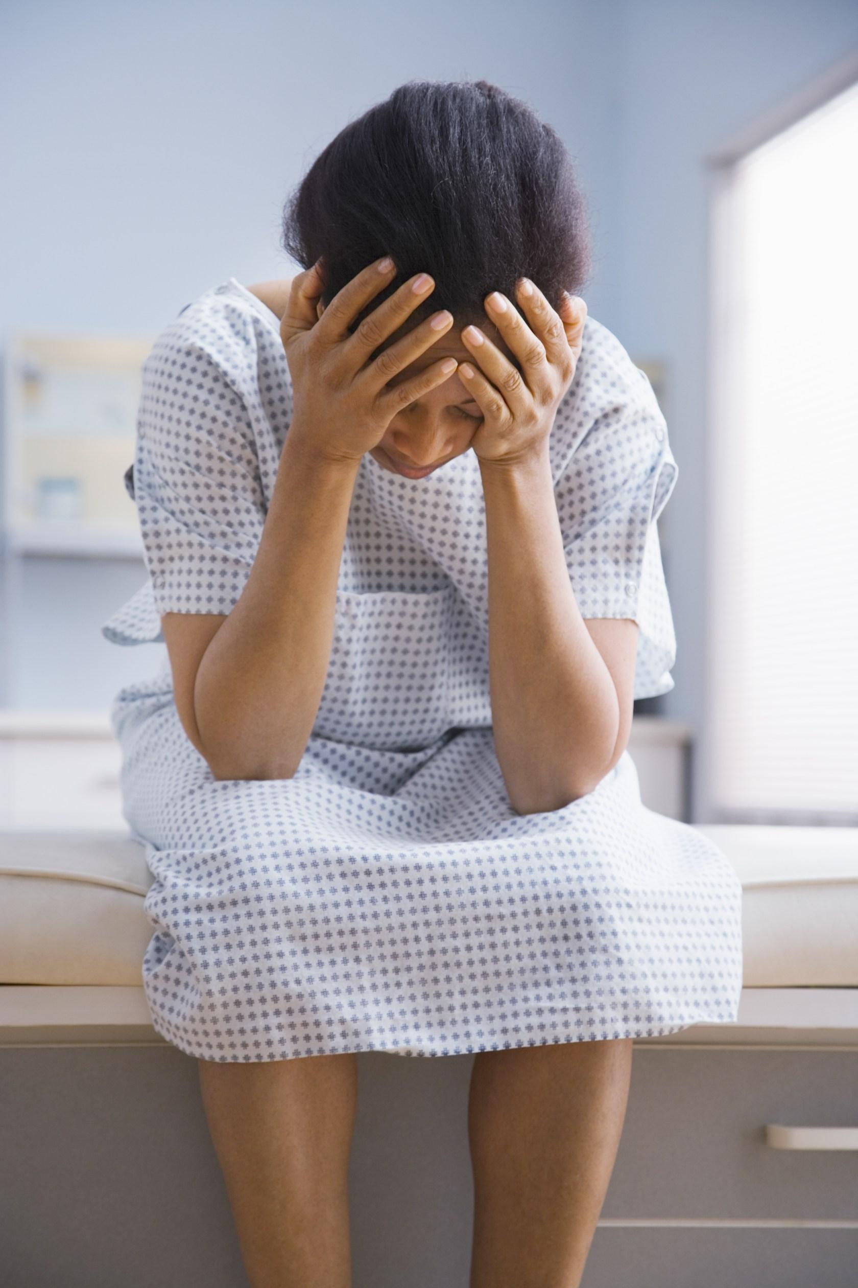 Black patient, concerned