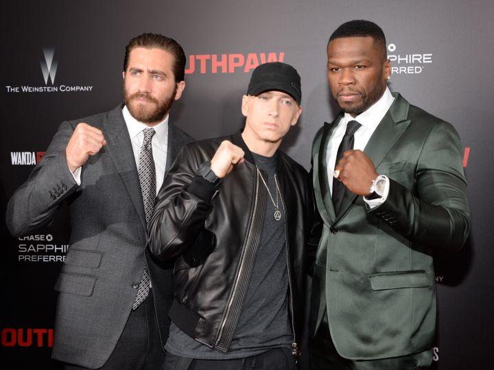 Jake Gyllenhaal, Eminem and Curtis '50 Cent' Jackson