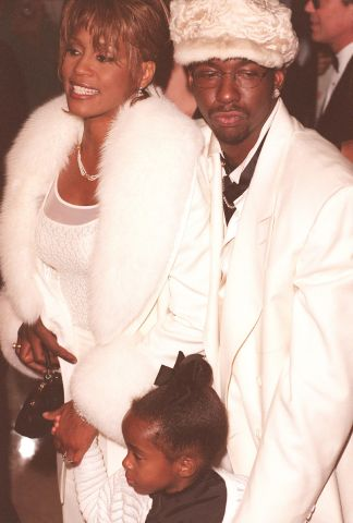 Whitney Houston Husband Bobby Brown And Daughter