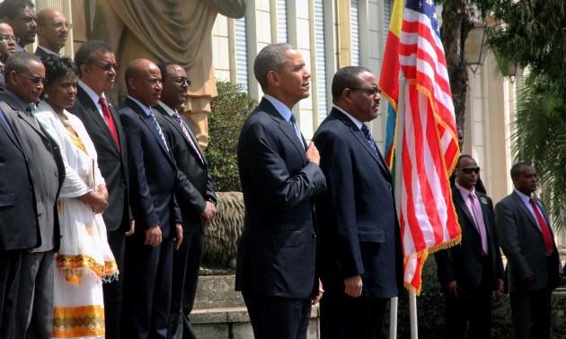 US President Barack Obama in Ethiopia