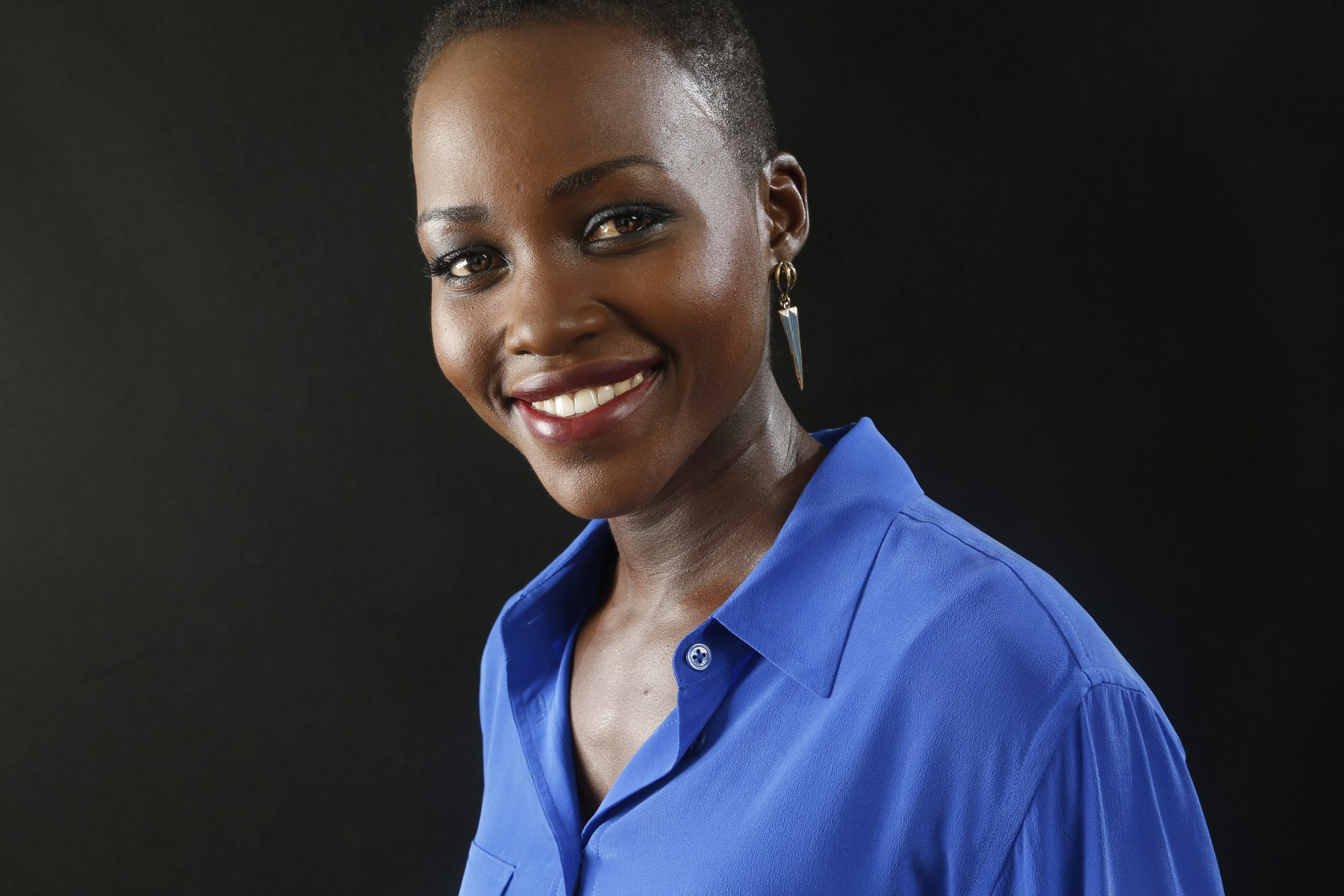Actress Lupita Nyong'o of the movie 12 YEARS A SLAVE, was photographed at Shutters on the