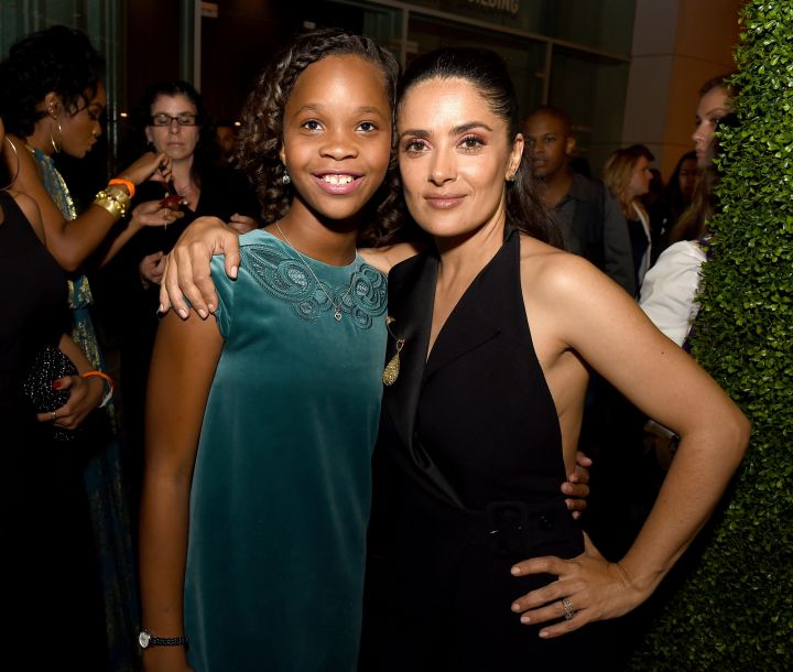 Quvenzhane Wallis and Salma Hayek