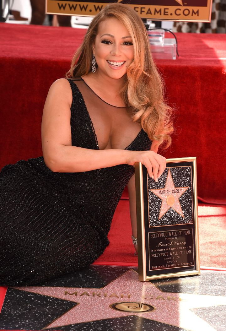 Mariah Carey Sparkles At Hollywood Star Ceremony