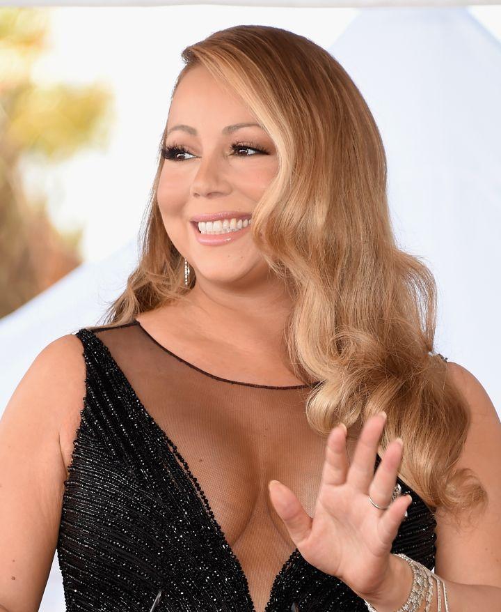 Mariah Carey Sparkles At Hollywood Star Ceremony