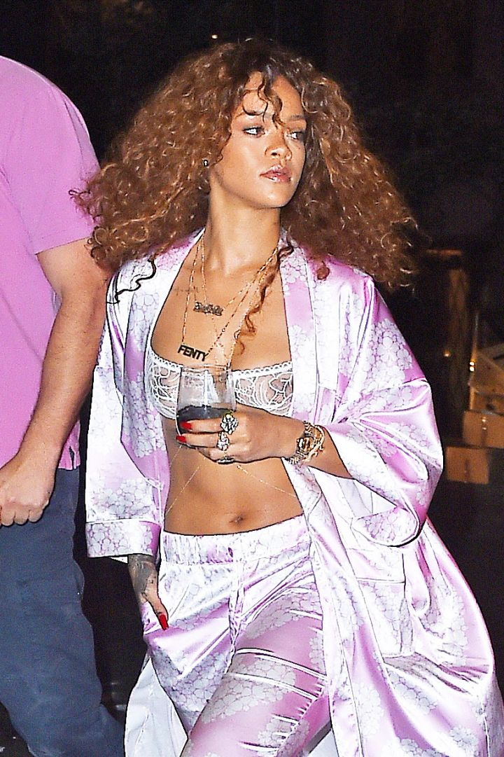 Rihanna's Pajama Party