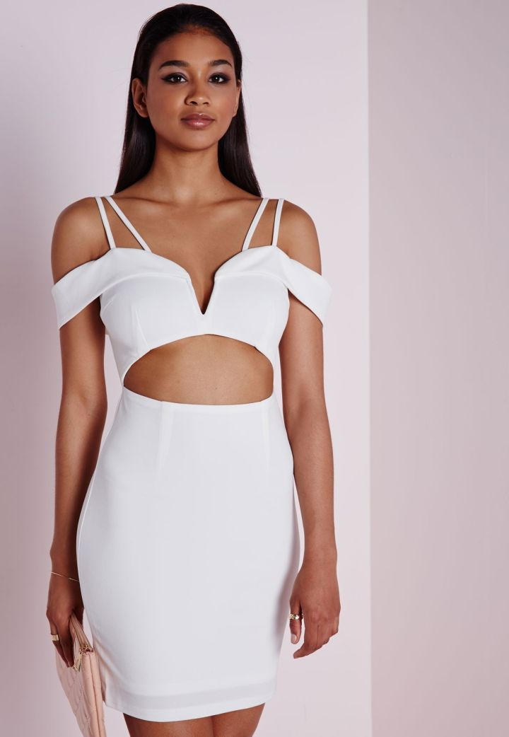Off Shoulder Cutout Dress