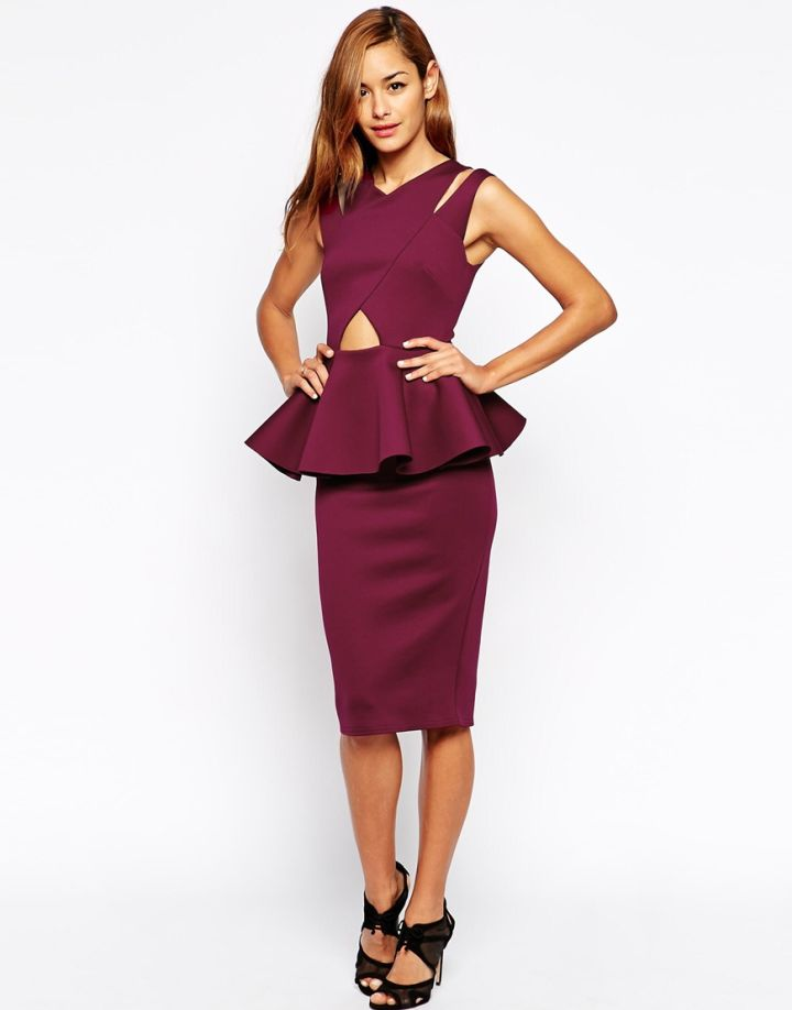 Peplum Cutout Dress