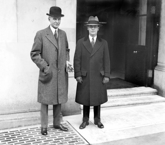 Son of American rubber king comes to London to discuss rubber situation with Henry Ford - 12-April-1928