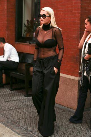Celebrity Sightings In New York - August 11, 2015