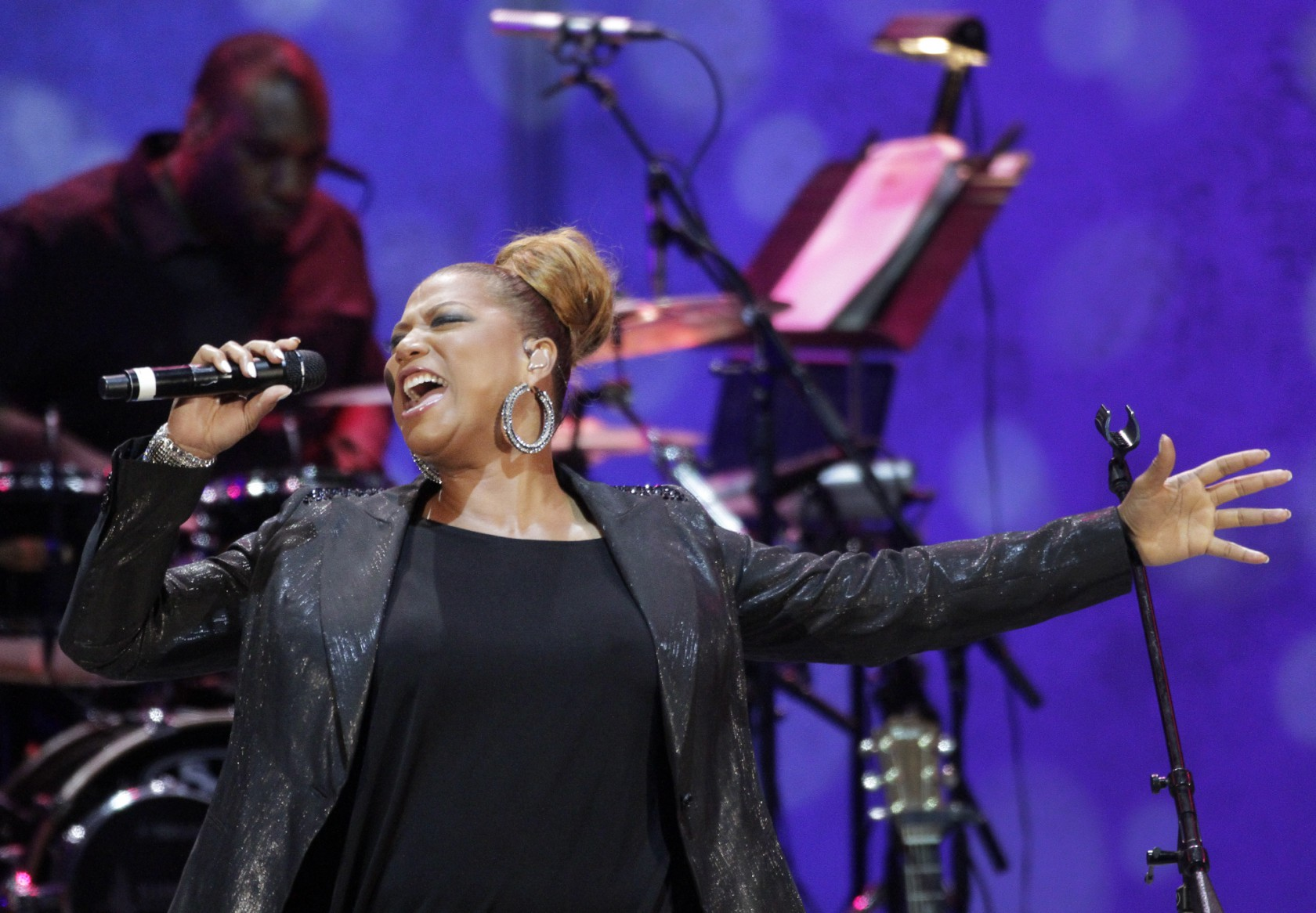 QUEEN LATIFAH headlining the show on Jul. 10, 2013 at the Hollywood Bowl. QUEEN LATIFAH and vibraph