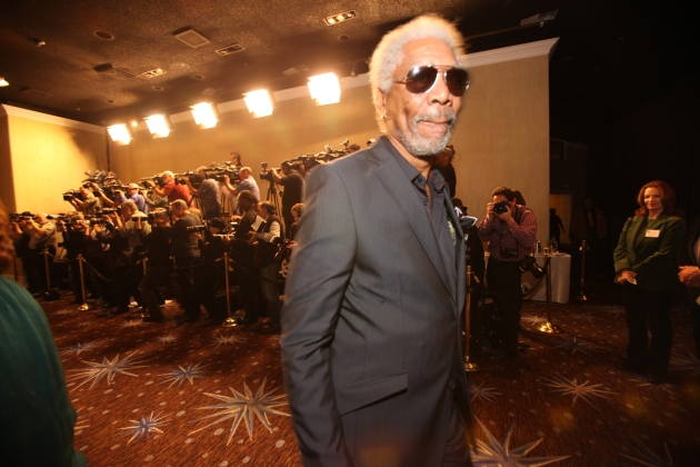 Morgan Freeman arrivals for the 82th Annual Academy Awards nominees luncheon at the Beverly Hilton