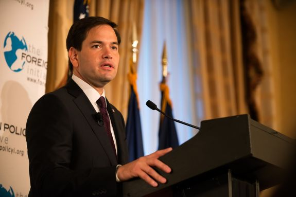 GOP Presidential Candidate Sen. Marco Rubio (R-FL) Gives Foreign Policy Address