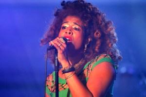 R&B-Sängerin Kelis Rogers bei einem Konzert im Wartesaal am Dom Köln