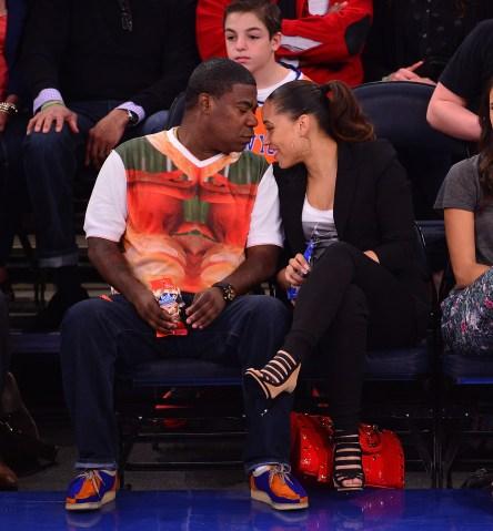 Celebrities Attend The Chicago Bulls Vs New York Knicks Game - April 13, 2014