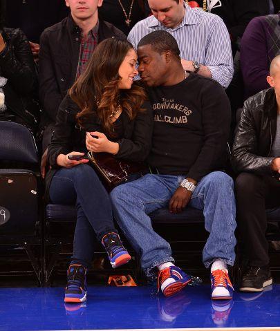 Celebrities Attend The Houston Rockets Vs New York Knicks Game - November 14, 2013