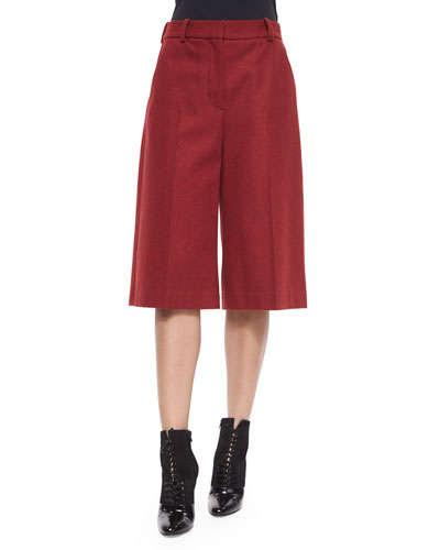 Ruby Wool-Blend Culottes