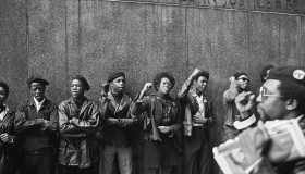 Black Panthers Protest At NYC Courthouse
