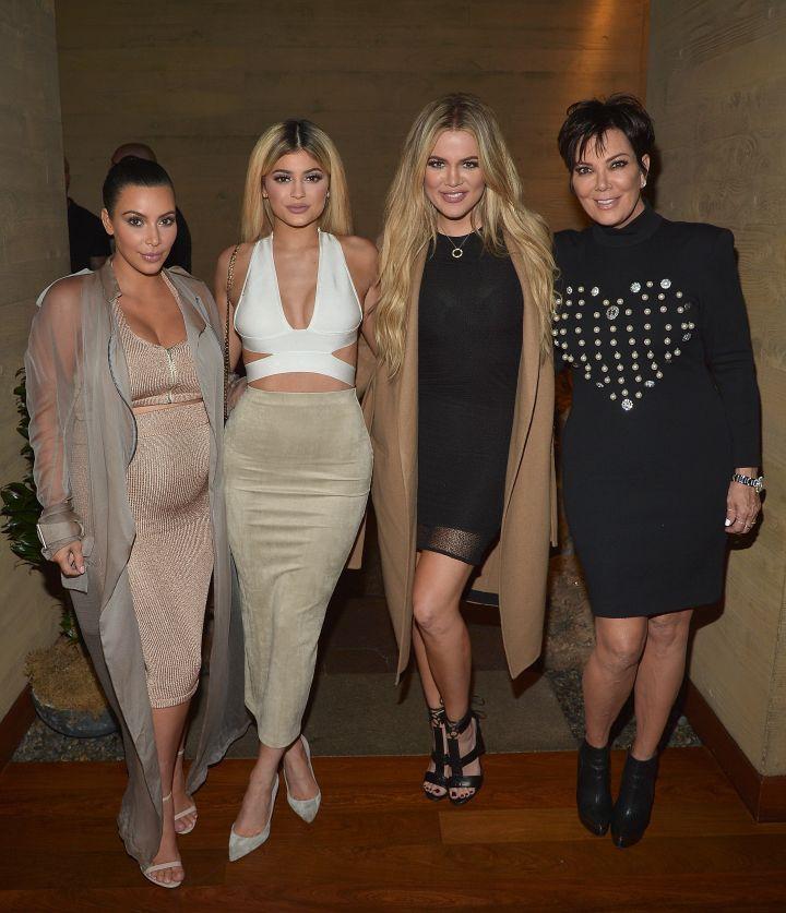 Kim Kardashian West, Kylie Jenner, Khloe Kardashian & Kris Jenner