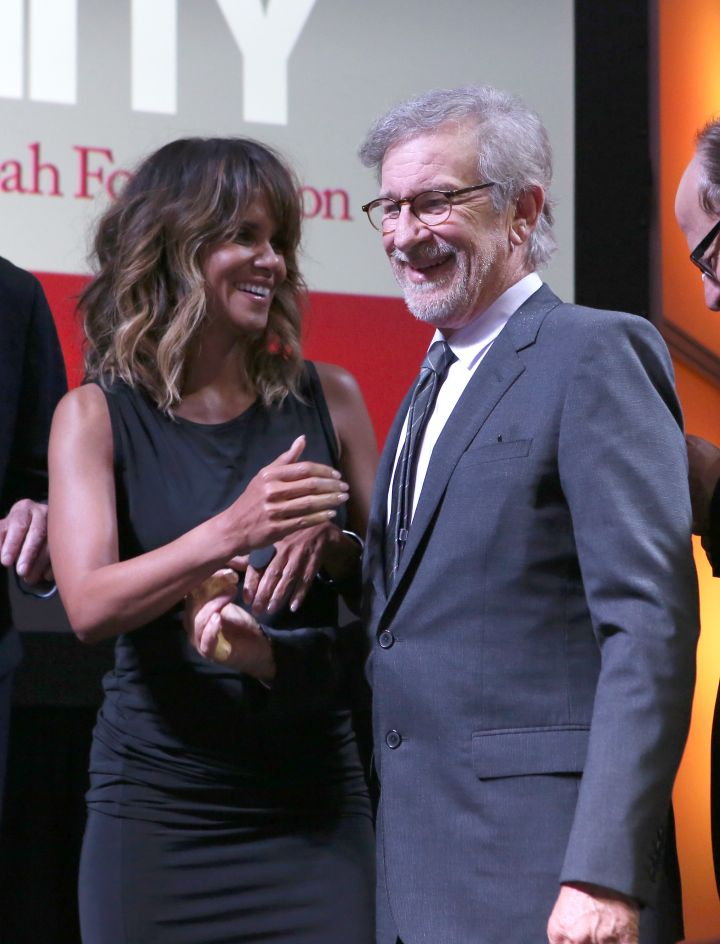 Actress Halle Berry & Steven Spielberg