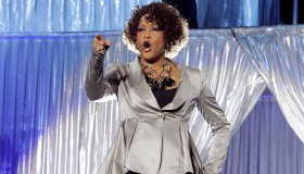 Houston, Whitney - Musician, Singer, Pop music, USA - performing in Oberhausen, Germany, Arena